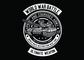 Tank War Tshirt Design buy t shirt design