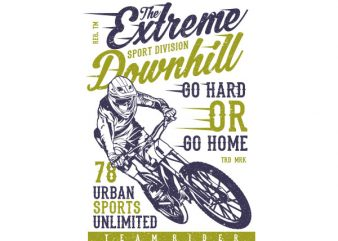 The Extreme Downhill Vector t-shirt design buy t shirt design