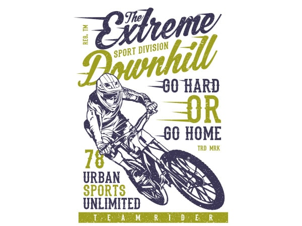 The Extreme Downhill Vector t-shirt design