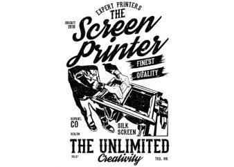The Screen Printer Graphic t-shirt design buy t shirt design