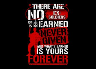 There Are No Ex Soldier – Veteran t shirt template