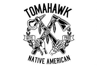 Tomahawk Tshirt Design buy t shirt design