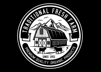 Traditional Fresh Farm Tshirt Design buy t shirt design
