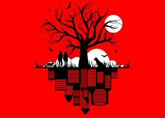 Tree City Tshirt Design