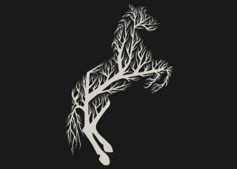 Tree Horse Tshirt Design buy t shirt design