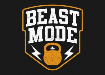 Beast Mode t shirt vector