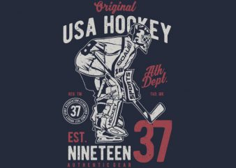 USA Hockey Vector t-shirt design buy t shirt design