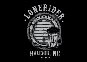Beer Rider Vector t-shirt design