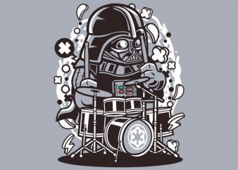 Darth Vader Drummer Tshirt Design buy t shirt design