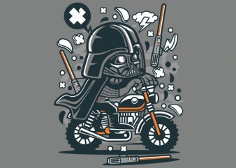 Darth Vader Motocross Tshirt Design buy t shirt design