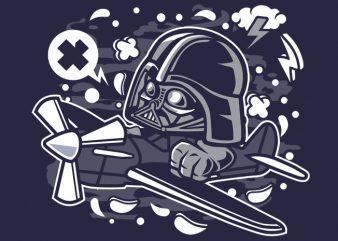 Vader Pilot t shirt vector art
