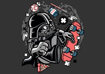 Darth Vader Skater Tshirt Design buy t shirt design