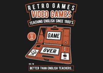 Video Games Vector t-shirt design buy t shirt design