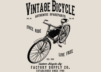 Vintage Bicycle Graphic t-shirt design buy t shirt design