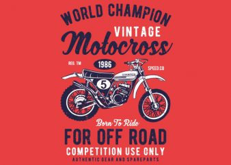 Vintage Motocross Graphic t-shirt design buy t shirt design