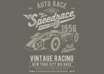 Vintage Speedrace Vector t-shirt design