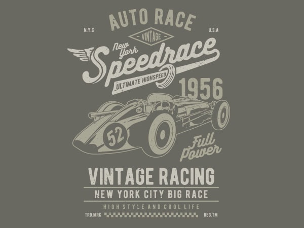 Vintage Speedrace Vector t-shirt design buy t shirt design