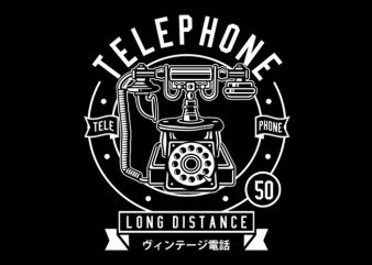 Vintage Telephone Tshirt Design buy t shirt design