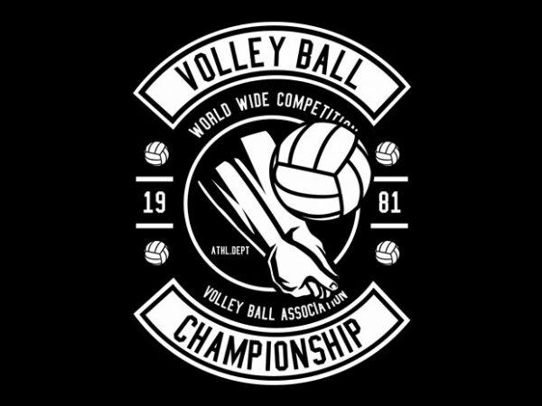 Volley Ball Tshirt Design