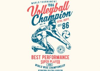 Volleyball Champion Vector t-shirt design buy t shirt design