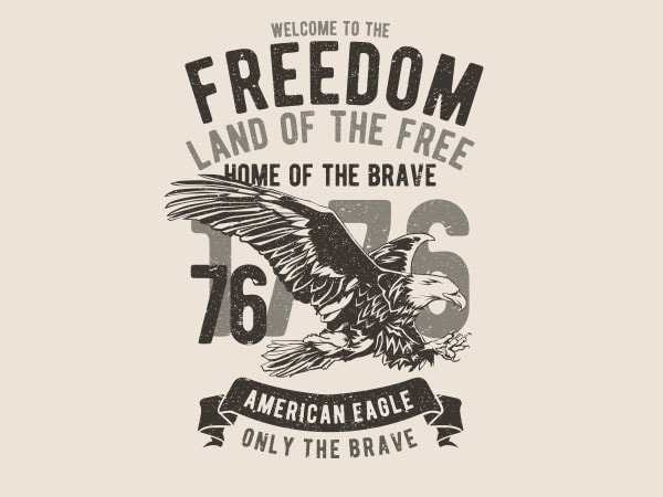 Welcome To The Freedom Graphic t-shirt design buy t shirt design