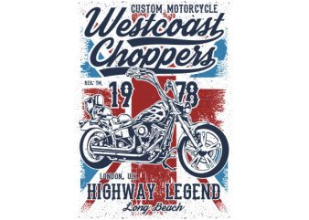Westcoast Choppers Vector t-shirt design