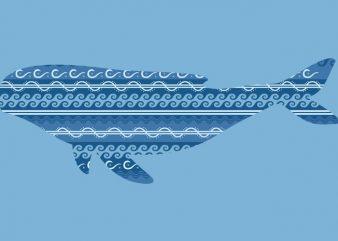 Whale Tshirt Design buy t shirt design