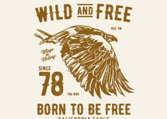 Wild And Free Graphic t-shirt design