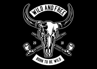 Wild And Free Tshirt Design buy t shirt design