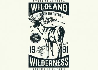 Wild Land Vector t-shirt design buy t shirt design