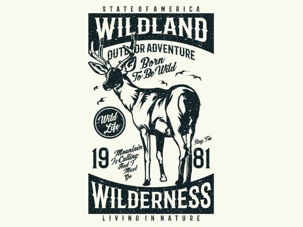 Wild Land Vector t-shirt design buy t shirt design