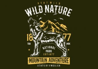 Wild Nature Vector t-shirt design buy t shirt design