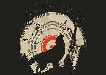 Wolf Tshirt Design