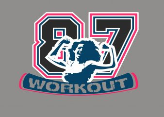 Work Out buy t shirt design