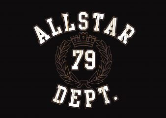 All Star 79 Dept t shirt vector