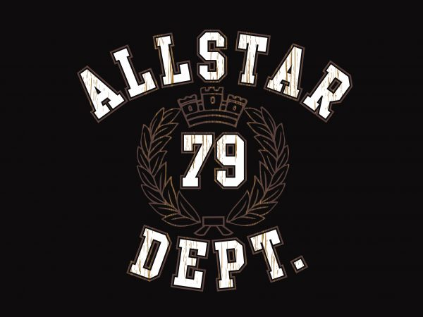 All Star 79 Dept t shirt vector