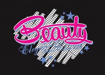 Beauty t shirt template