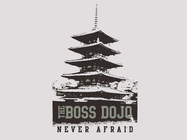 The Boss Never Afraid t shirt designs for sale