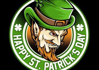 St Patrick t shirt template vector