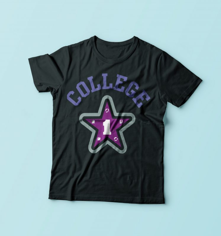 College buy t shirt design