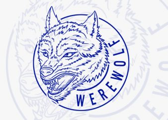 Werewolf buy t shirt design