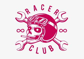 Racer Club buy t shirt design