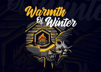 Warmth Of Winter t shirt design for sale