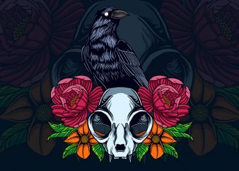 raven and cat t shirt design online