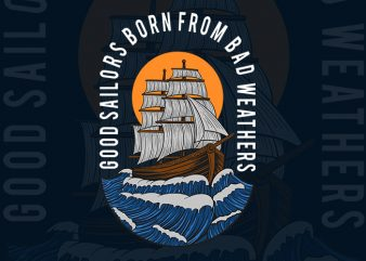 sailors t shirt template vector