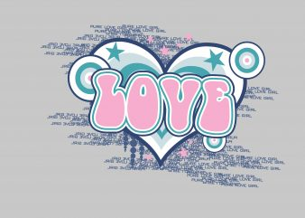 Love t shirt vector graphic