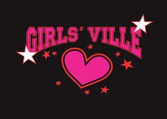 Girl Ville buy t shirt design
