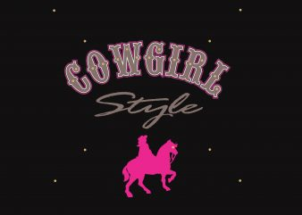 Cowgirl t shirt template