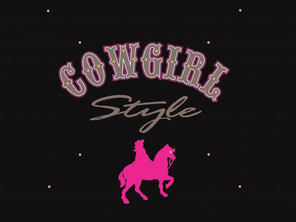 Cowgirl buy t shirt design