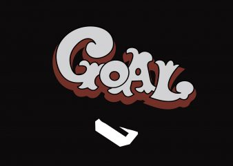 Goal t shirt design template